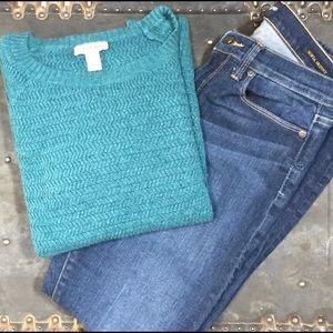 Loft Teal blue/green sweater 💫